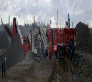 Mobile Crushing Equipment from NFLG applied in the all-round production line of cobble in Gansu