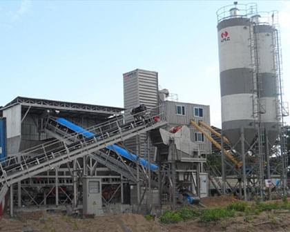 Container type bucket cement concrete mixing station