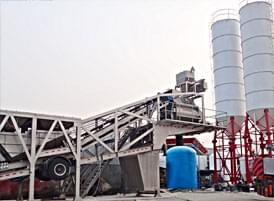 Integral Mobile Concrete Batching Plant