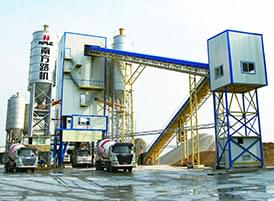 HLS series commercial concrete mixing plant